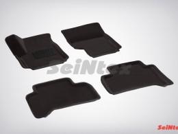 Ворсовые 3D коврики для Volkswagen Amarok (не подходят для комплектации с пластиковым полом) 2010-н.в.