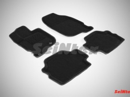 Ворсовые 3D коврики для Mitsubishi Pajero Sport 2008-2015