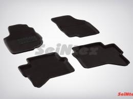 Ворсовые 3D коврики для Toyota Hilux 2012-2015