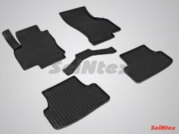 Коврики резиновые (рисунок Сетка) для Audi A-3 2012-н.в.
