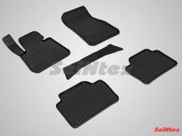 Коврики резиновые (рисунок Сетка) для BMW 3-Ser F-30 2011-н.в.