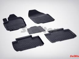 Резиновые коврики с высоким бортом для Toyota RAV4 IV 2012-н.в.