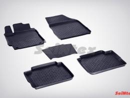 Резиновые коврики с высоким бортом для Toyota Camry VII 2012-н.в.