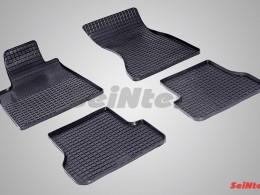 Коврики резиновые (рисунок Сетка) для Audi A-6 (4G C7) 2011-н.в.