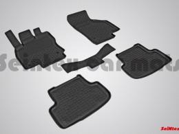 Резиновые коврики с высоким бортом для Audi A-3 2012-н.в.