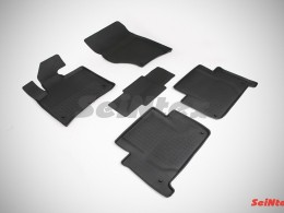Резиновые коврики с высоким бортом для Audi Q-7 2005-2015