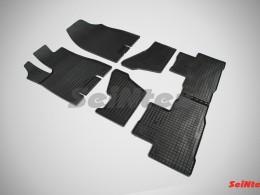 Коврики резиновые (рисунок Сетка) Acura MDX 2014-н.в.