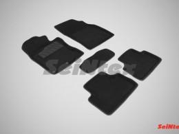 Ворсовые 3D коврики для Nissan Qashqai II (английская сборка) 2014-2016