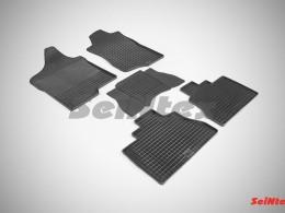Коврики резиновые (рисунок Сетка) для Cadillac Escalade 2007-2014