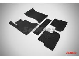 Коврики резиновые (рисунок Сетка) для BMW 5 Ser F-10 2013-н.в.