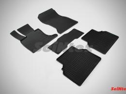 Коврики резиновые (рисунок Сетка) для BMW 5 Ser F-07 GT 2009-н.в.