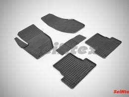 Коврики резиновые (рисунок Сетка) для Volvo V-40 2012-н.в.