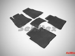 Резиновые коврики с высоким бортом для Nissan Sentra 2014-н.в.