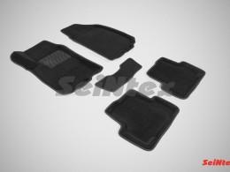 Ворсовые 3D коврики для Chervrolet Aveo II 2011-н.в.