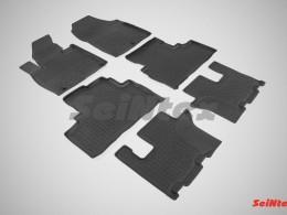 Резиновые коврики с высоким бортом для KIA Sorento Prime (3 ряда) 2015-н.в.