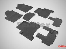Резиновые коврики с высоким бортом для Haval H9 (3 ряда) 2014-н.в