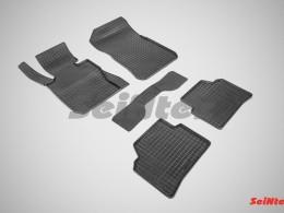 Коврики резиновые (рисунок Сетка) для BMW 3 Ser E-90 2005-2013