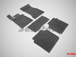 Коврики резиновые (рисунок Сетка) для BMW 7 Ser G12 VI 4WD 2015-н.в.