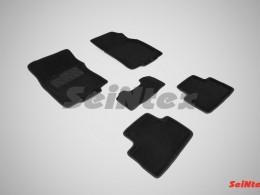 Ворсовые 3D коврики для Nissan Qashqai II (российская сборка) 2014 - н.в.