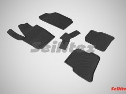 Коврики резиновые (рисунок Сетка) для Seat Ibiza 2012-н.в.