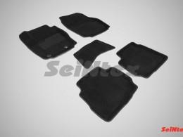 Ворсовые 3D коврики для Ford Mondeo IV (овальный крепеж) 2007-2010