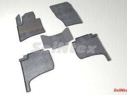 Коврики резиновые (рисунок Сетка) для Volkswagen Touareg II 2010-н.в.