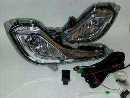 Противотуманные фары Hyundai Solaris с проводкой и кнопкой