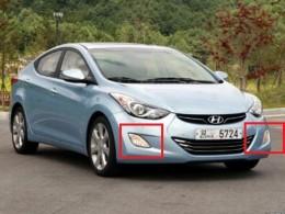 Противотуманные фары Hyundai Elantra  MD (2011)