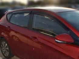 Дефлекторы окон Hyundai Solaris Hatchback
