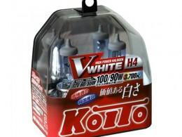 Комплект ламп Koito H4 12V 60/55W (100/90W) White (2шт)