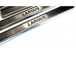 Накладки на пороги Lada LARGUS (2012)