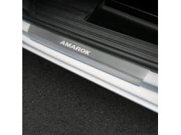 Накладки порогов для Volkswagen Amarok 2016- (Rival)