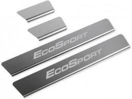 Накладки порогов для Ford Ecosport 2014- (Rival)