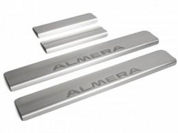 Накладки порогов для Nissan Almera 2013-2018
