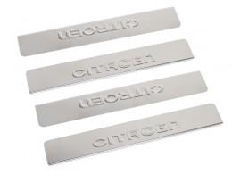 Накладки на пороги Citroen C4 (2013->)
