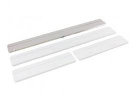 Накладки на пороги SUZUKI SX4 ступенчатые, штамп