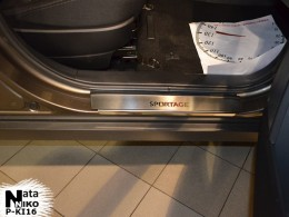 Накладки на пороги Kia SPORTAGE III (2010) Premium