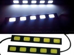 Ультратонкие ходовые огни 5 COB 14,5 см