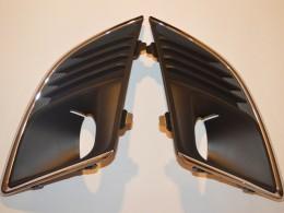 Решётки ПТФ Chevrolet Cruze 2013-14 с хром окантовкой