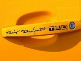 Наклейки на ручки авто TRD