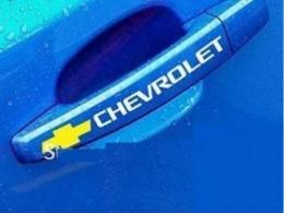 Наклейки на ручки авто Шевроле
