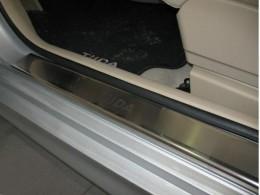 Накладки на пороги Nissan TIIDA (2007)
