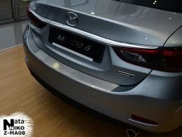 НАКЛАДКА НА БАМПЕР С ЗАГИБОМ  Mazda 6 III Sedan (с 2013 г.)