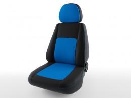 Чехлы экокожа Турин Nissan Almera G15 (2013-) с цельным задним сидением