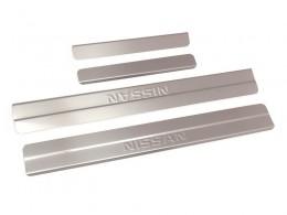 Накладки Nissan Almera 2013-16 (ступенчатые с надп.)