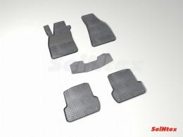 Коврики резиновые (рисунок Сетка) для Audi A-4 (B7) 2002-2007