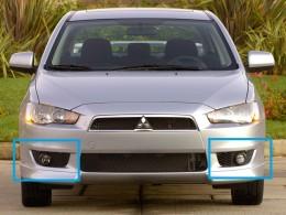 Противотуманные фары Mitsubishi Lancer X (2007-11)