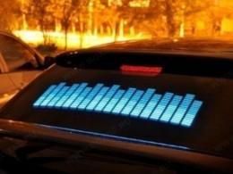 Графический эквалайзер 90х25 см синий