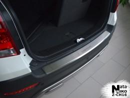 Накладка на бампер с загибом Chevrolet Captiva FL (с 2013 г.)