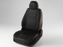 Чехлы экокожа Дэнвер для Skoda Octavia A7 (2013-) для комплектации Ambition (без подлокотника)